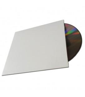 Pochette carton blanche pour CD ou DVD